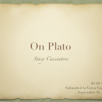 Cacciatore's Views On Plato